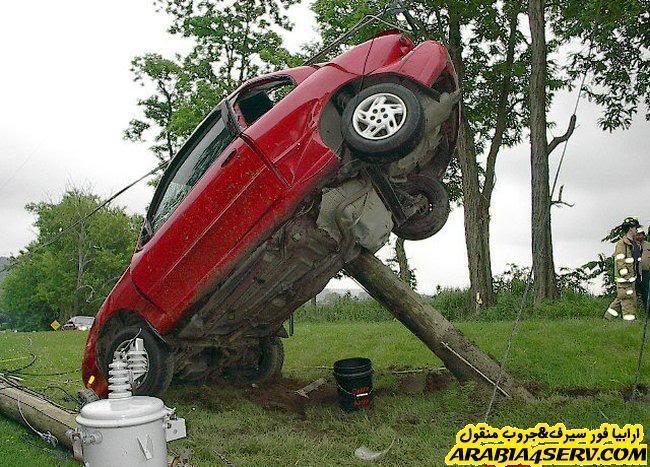 """صور حوادث سيارات غريبه جدا وطرائف سيارات متنوعه """"61 صوره"""