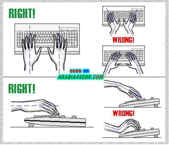 كيفية الجلوس الصحيح امام الكمبيوتر - نصائح
