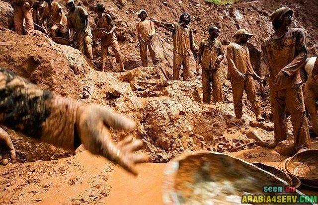 كيفية استخراج الذهب من المناجم بالصور