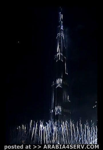 صور حفل افتتاح برج دبي - برج خليفة