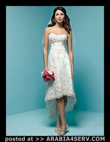 فساتين زفاف قصيرة