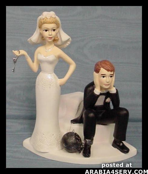 بالصور اضحك مع تورتات الزفاف