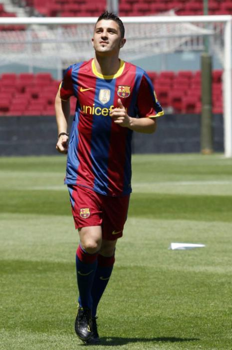 صور دافيد فيا مع برشلونة