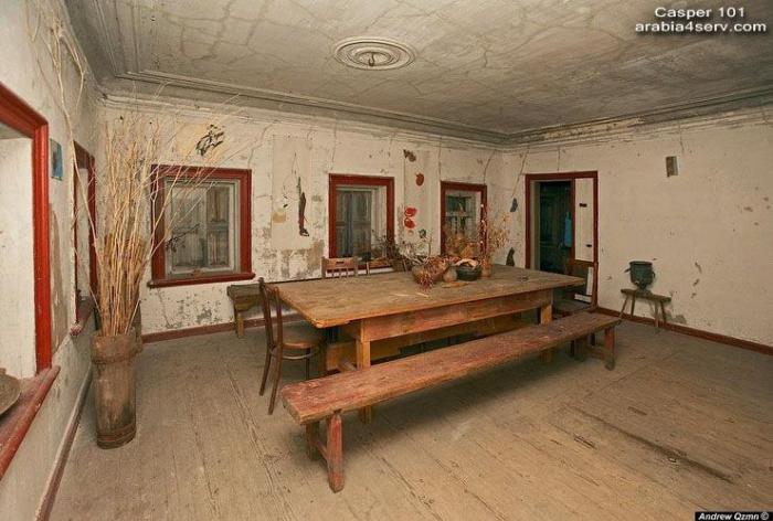 منزل خشبي قديم تحفة في روسيا