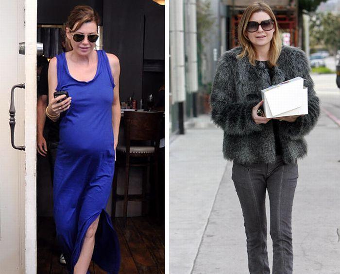 الفنانات - المطربات - الممثلات - الجميلات قبل وبعد الحمل والولادة