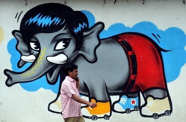 صور جدران مدينة بنجلور الهندية