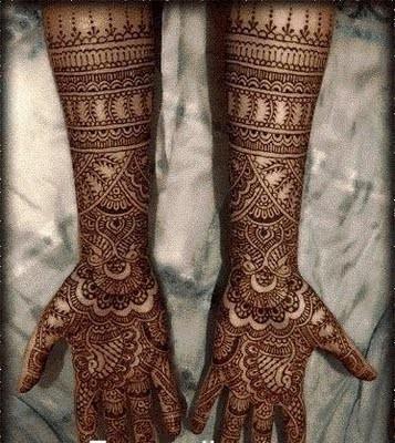 نقوش حناء خليجية - عربية - هندية