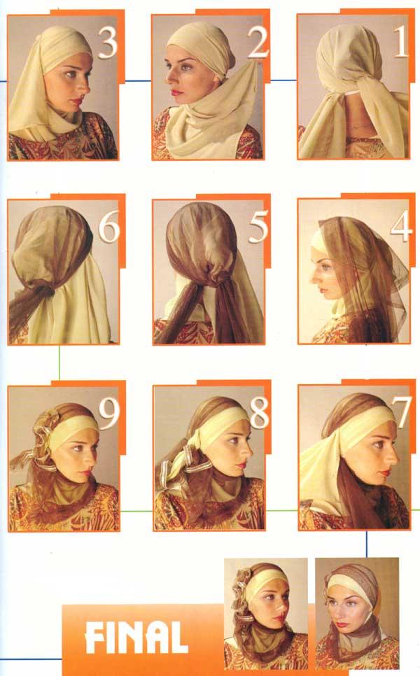كيفية لف الحجاب بالصور 2014