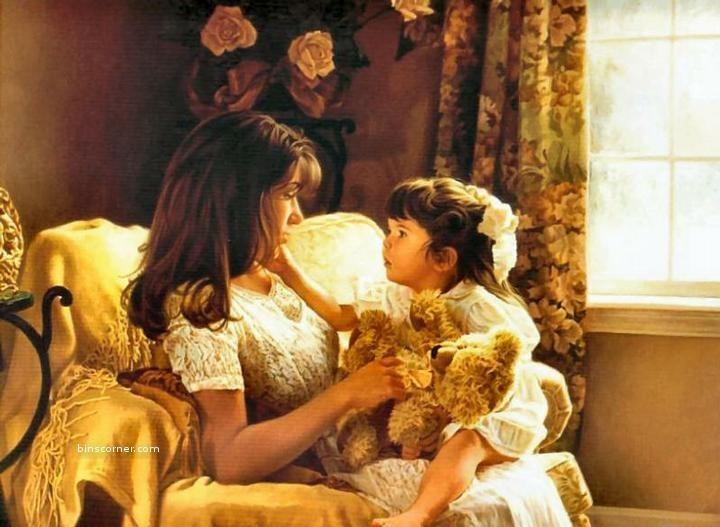 لوحات عن الام - رسومات تعبر عن الامومة